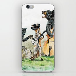 """ Bluegrass Gang "" wild animal music band iPhone Skin"
