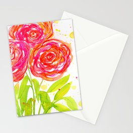 Painterly Peony - Watercolor Floral Print Stationery Cards