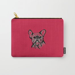 'The Grump' French Bulldog Line Art Face Carry-All Pouch