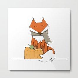 Fall Fox Metal Print