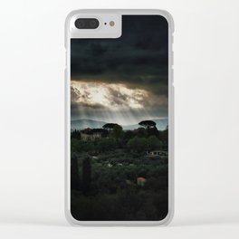 Beams of light over Florence Clear iPhone Case