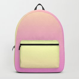 PEACH DREAMS - Minimal Plain Soft Mood Color Blend Prints Backpack