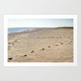 Footprints in Eastham Art Print