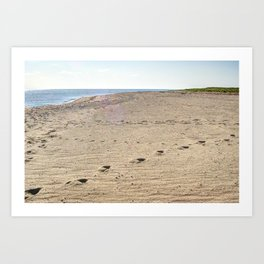 Footprints in Eastham Art Print