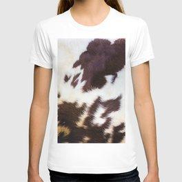 Faux Fur Cowhide T-shirt