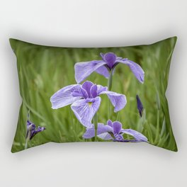 Sankeien Garden Iris Rectangular Pillow