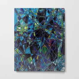 Fragments- Blue Mosaic  Metal Print