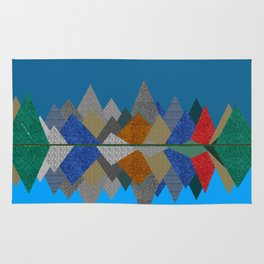 Over The Fabric Hills And Far Away Rug