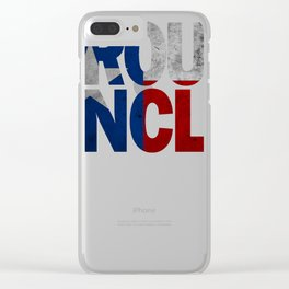 Uncle Design and Texas Design Uncle Design Texas Flag shirt Clear iPhone Case