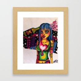 Shiney Love Guns Framed Art Print