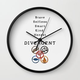 DIVERGENT - ALL FACTIONS Wall Clock