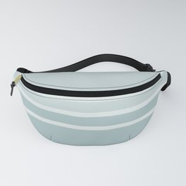 Lines Blue Grey Fanny Pack