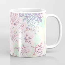 Beautiful spring vector illustration with pink flowers Coffee Mug