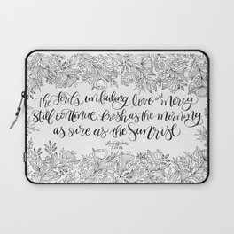 As Sure As The Sunrise Laptop Sleeve
