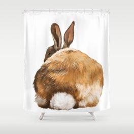 Rabbit Butt Shower Curtain