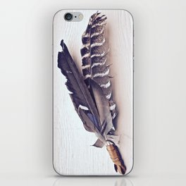 Sacred Smudging, Feather Fan iPhone Skin