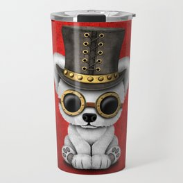 Steampunk Baby Polar Bear Travel Mug