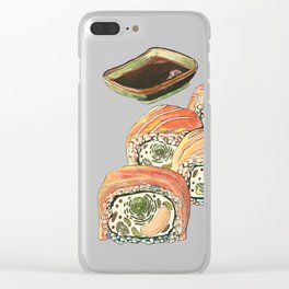 Eukaryotic Sushi Roll Clear iPhone Case
