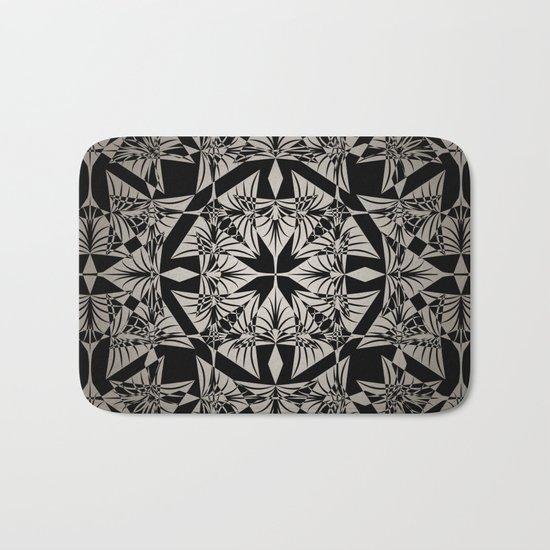 Art Deco 42 Black and gray ornament . Bath Mat