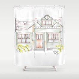 Green Craftsman Shower Curtain
