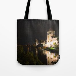 Night Time River Tote Bag
