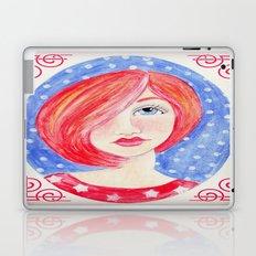 Red Headed Whimsy Girl Laptop & iPad Skin