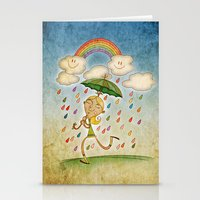 rain Stationery Cards featuring Rain by José Luis Guerrero
