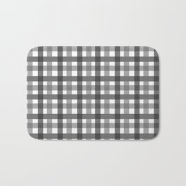 Grey Picnic Cloth Pattern Bath Mat