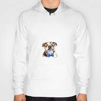 bulldog Hoodies featuring bulldog by Heathercook