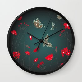 Tatemae Japanese Green Wall Clock