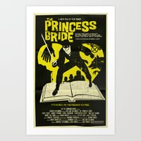 princess bride Art Prints featuring The Princess Bride by Mark Welser