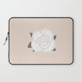 White vintage rose. Vector Illustration Laptop Sleeve