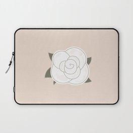 White vintage rose. Vector Illustration Laptop Sleeve