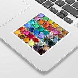 watercolor palette Digital painting Sticker