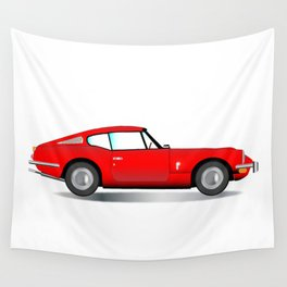 Old Hard Top Sports Car Wall Tapestry