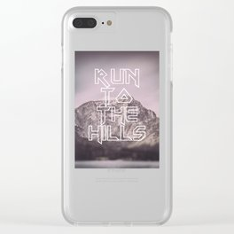 Run To The Hills Clear iPhone Case