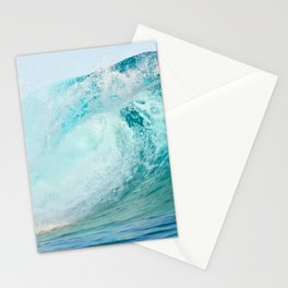 Pacific big surfing wave breaking Stationery Cards
