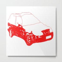 iconic swedish car Metal Print