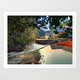 Nature, a river and colorful reflections | waterscape photography Art Print