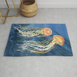 Dancing of Jellyfish Rug