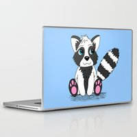racoon Laptop & iPad Skins featuring Racoon by BlackBlizzard