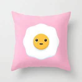 Sad Egg Throw Pillow