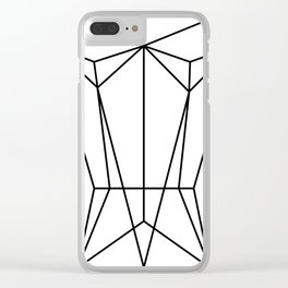 White Corset Clear iPhone Case