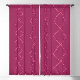 Moroccan Diamond Stripe in Magenta Blackout Curtain