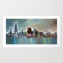 Chicago At Noon Art Print