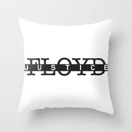 JUSTICE FOR GEORGE FLOYD Throw Pillow
