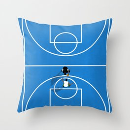 Shooting Hoops | Basketball Court Throw Pillow