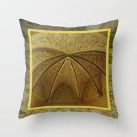 antique Throw Pillows featuring Antique by Herzensdinge