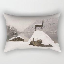 The Stag At Lake Bohinj Rectangular Pillow