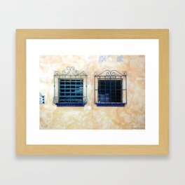Mexican Security ~ Wrought Iron Windows Framed Art Print